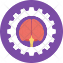 Brain Gear Brainstorming Icon
