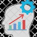 Brain Thinking Level Cogwheel With Brain Analytical Thinking Icon