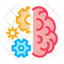 Brain Work Mechanical Icon