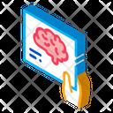 Brain Hand Photo Icon