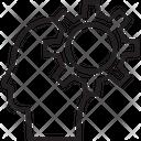 Brainstorm Cogwheel Thinking Icon