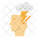 Thunder Cloud Think Icon
