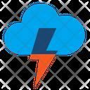 Brainstorm Thunderstorm Lightning Icon