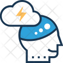 Brainstorming Brain Thunder Icon