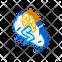 Brainstorm Training Isometric Icon