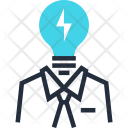 Brainstorming Bulb Business Icon