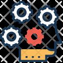 Brainstorming Cogwheel Avatar Icon