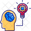 Brain Trainingm Brainstorming Creativity Icon