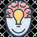 Brainstorming Inspirational Intelligence Icon