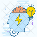 Brainstorming Brain Development Creative Learning Icon
