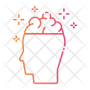 Gradient Human Brainstorm Icon