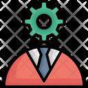 Brainstorming Cog Idea Icon