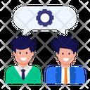 Collaborative Thinking Brainstorming Team Icon