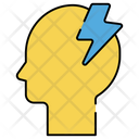 Brainstorming Brain Power Brain Energy Icon