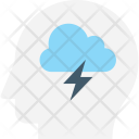 Brainstorming Thinking Head Icon