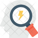 Brainstorming Magnifier Head Icon