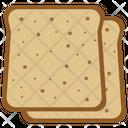 Bran bread slices Icon