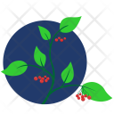 Branch Green Leaves Icon