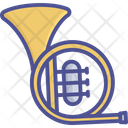 Brass French Horn Music Instrument Icon