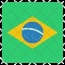 Brazil Flag Circle Icon