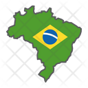 Brazil Country Geograpgy Icon