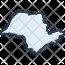 Brazil Border Map Icon