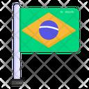 Brazil Flag Pole Icon
