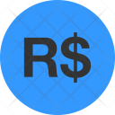 Brazilian Real Currency Icon