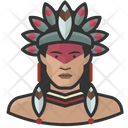 Brazilian Native Man Avatar User Icon