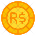 Brazilian Real Coin Currency Icon