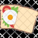 Bread Breakfast Eating Icon