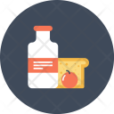 Bread Milk Fruit Icon