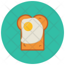 Bread Slice Egg Icon
