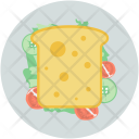 Bread Slice Breakfast Icon