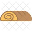Swiss Roll Bread Icon