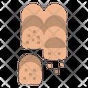Roll Bread Bakery Icon