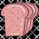 Bread Slices Brown Bread Sandwich Bread Icon