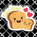 Toast Bread Slices True Love Icon