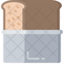 Bread Tin Storage Baked Icon