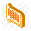 Caviar Bread White Icon