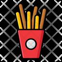 Breadsticks French Fries Potato Fries Icon