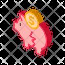 Chopped Piggy Bank Icon
