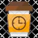 Break Coffe Clock Icon
