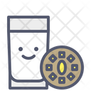 Breakfast Milk Cookie Icon