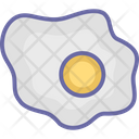 Breakfast Cooked Egg Dairy Food Icon