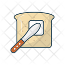 Bread Knife Breakfast Icon