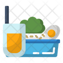 Breakfast Canteen Food Icon
