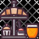 Bread Breakfast Orange Juice Icon