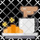 Breakfast Croissant Bakery Icon