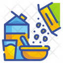 Breakfast Milk Cereal Icon